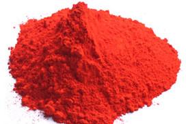 Красный  минеральный пигмент, обработанный гидрогенизированным лецитином