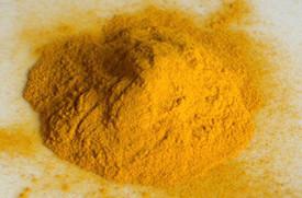 Желтый-охристый  минеральный пигмент, обработанный гидрогенизированным лецитином
